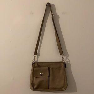 Roots Leather Shoulder/Crossbody Bag